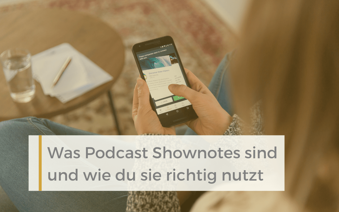 Podcastliebe-Podcast-Shownotes
